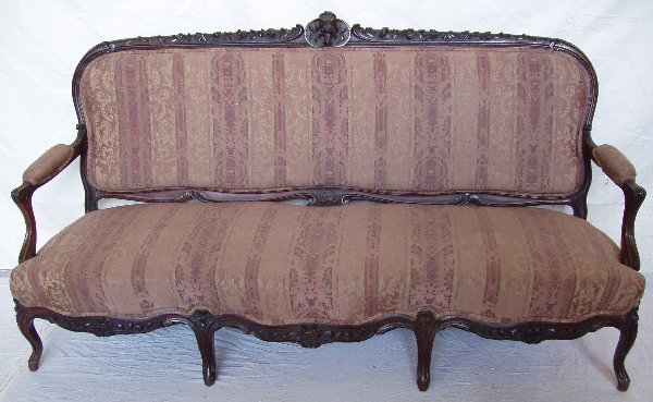 211: Victorian Heavily Carved Rosewood Sofa