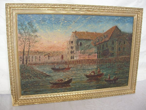 214: Oil on Canvas Painting, Signed V. Schmitt