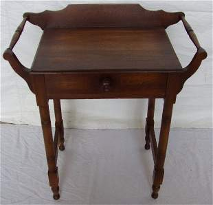 Victorian Commode w/Double Towel Bar Sides
