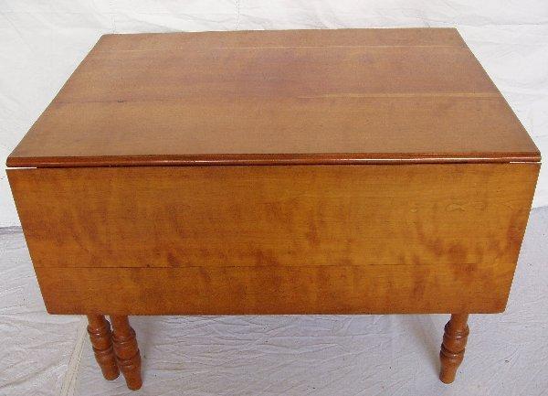 222: Cherry Wood Drop Leaf Table