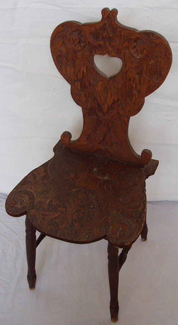 223: Heavily Carved Side Chair