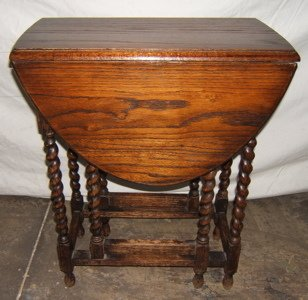 403: Antique European Gate Leg Oak Table