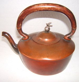 416: Antique Copper Tea Pot Signed Gorham