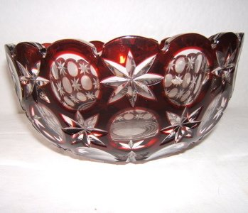 419: Cut Crystal Bowl Made in Hungary