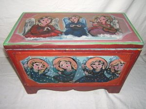 630: Contemporary Religious Trunk by Lydia Taos 1998