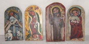 631: 4 Contemporary Religious Plaques Lydia Taos