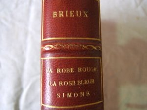 645: Antique French Book Brieux La Robe Rouge 1912