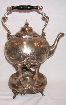 10: Antique Silverplate Coffee Kettle