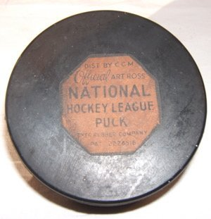 12: Antique National League Hockey Puck