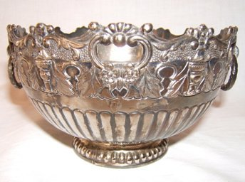 14: Antique Silverplate Handled Bowl
