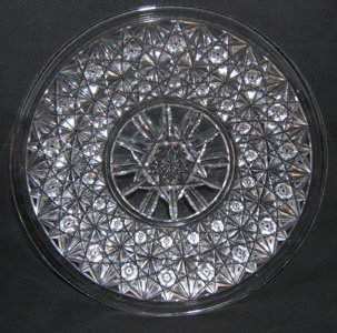 16: Antique Cut Crystal Plate