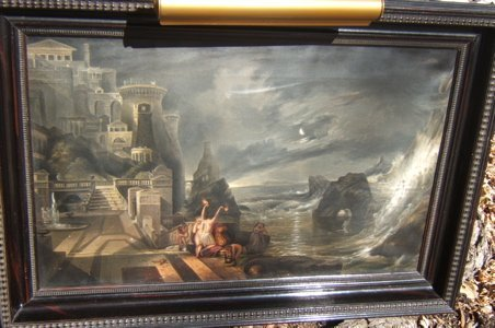 320: Antique W.A. King 1866 Painting