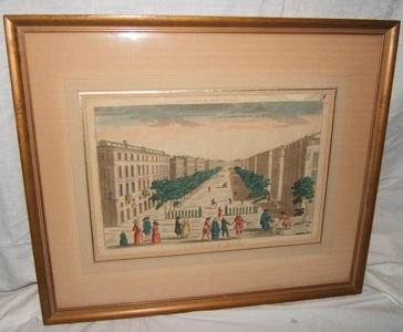 319: French Colored Etching Vuc Lu Cour's De Marseilles