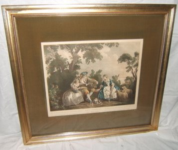 """322: French 18th Century Engraving """"Les Armours Du Boca"""