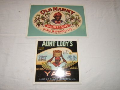 403: Postcards Aunt Lodys' Yam's Ole & Mammy Shortening