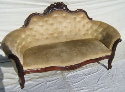 3: Victorian Heavily Carved Loveseat With Fruit Motif