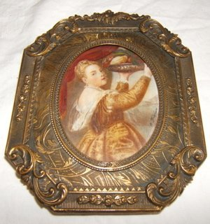 5: Antique European Miniature Painting on Ivory
