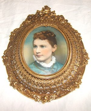 "7: Antique European Miniature Painted on Ivory ""Woman"""