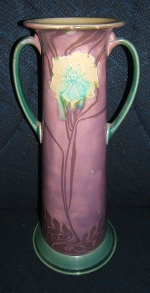 49: English Minton Vase with 2 Handles