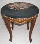 304: French Style Tapestry Stool