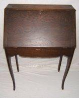 306: Antique Oak Drop Front Desk