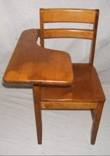 307: Maple Students Desk Chair