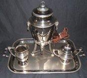 313: Silver Plate Coffee Service Universal