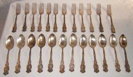 314: Semian L. George Rogers Co 1905 Silver Plate Flatw