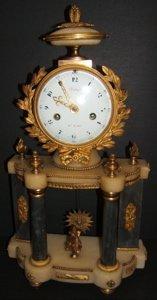 585: French Dore Bronze Mantel Clock