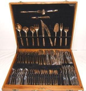 590: Nickel Bronze Flatware Set 144 Pieces