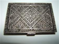 1011: Antique Silver Case with Intricate Design