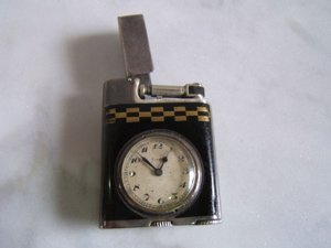2110: French Antique Clock Lighter Eterna
