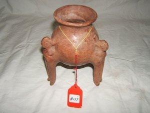 19: Pre-Columbian Tripod Jar