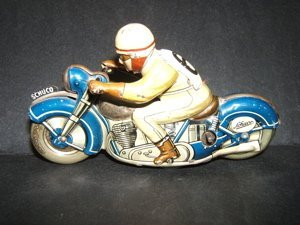 1: Antique Schuco Toy Motorcycle