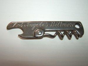 7: Los Angeles Biltmore Bottle Opener and Cork Screw