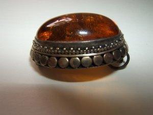 8: Antique Stone Pendant 925 Sterling