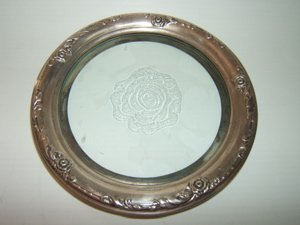 12: Sterling Crystal Etched Plate
