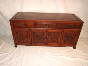 19: Heavily Carved Asian Cabinet