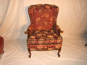 20: French Style Wing Back Chair