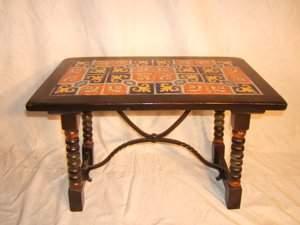 24: Monterey (?) California Tile Top Table