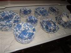 Antique English Chippendale China Set Johnson Bras