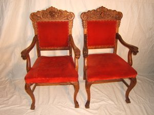 501: Antique Griffin Armchairs Mahogany