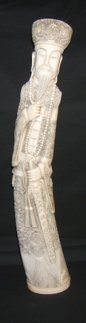 509: Antique Asian Ivory Emperor Carved