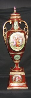519: Antique Hand Painted Austrian Urn