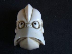 581: Asian Ivory Netsuke Mask Signed