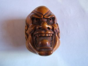 587: Asian Ivory Netsuke Mask