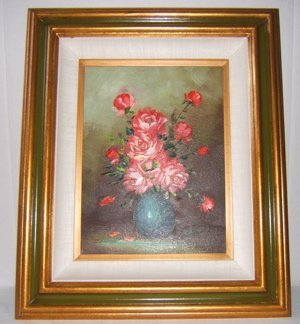 701: Flower Painting by F.R. Levy