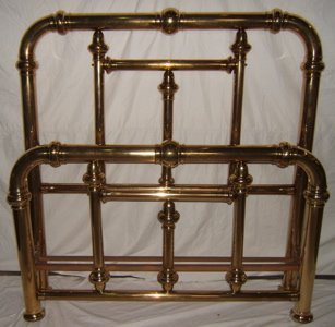 705: Antique Victorian Style Brass Bed
