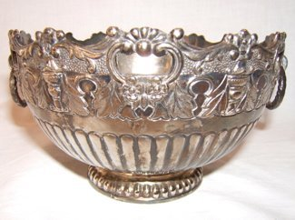 708: Antique Silverplate Handled Bowl