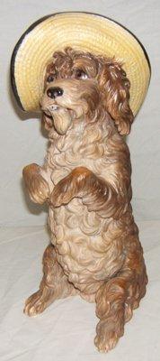 860: Antique European Porcelain Dog